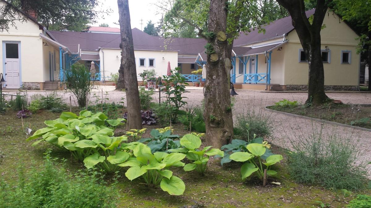 A Balzsam Apartmanház Harkány kertje